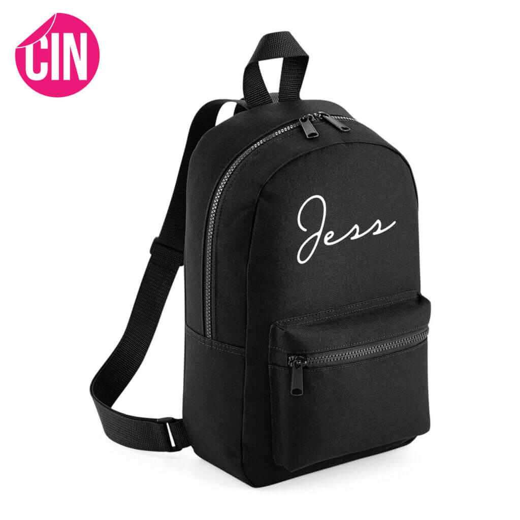 Chique essential mini backpack met naam Cindysigns