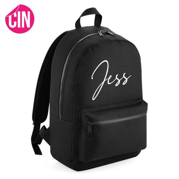 Essential backpack rugzak met naam