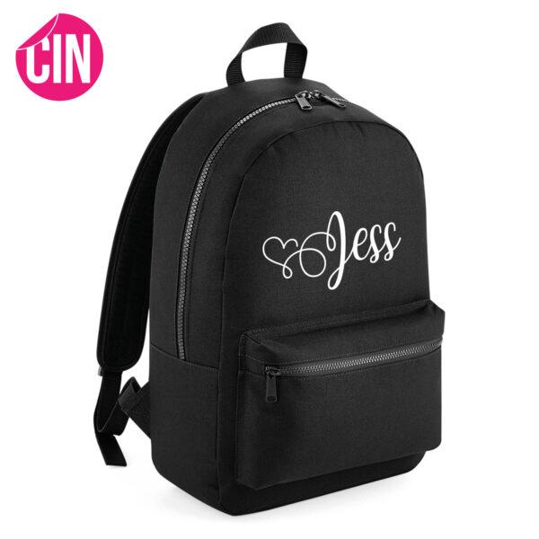 fancy essential backpack rugzak met naam cindysigns