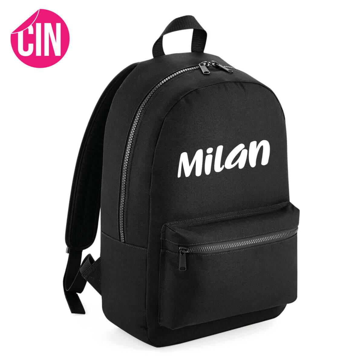 Robuust essential backpack rugzak met naam cindysigns