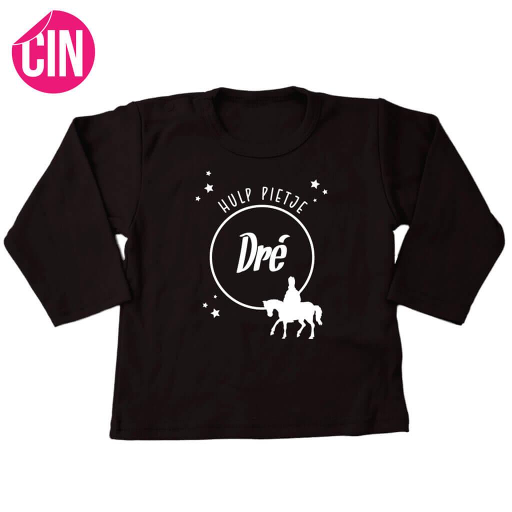 Zwart sinterklaas shirt cindysigns