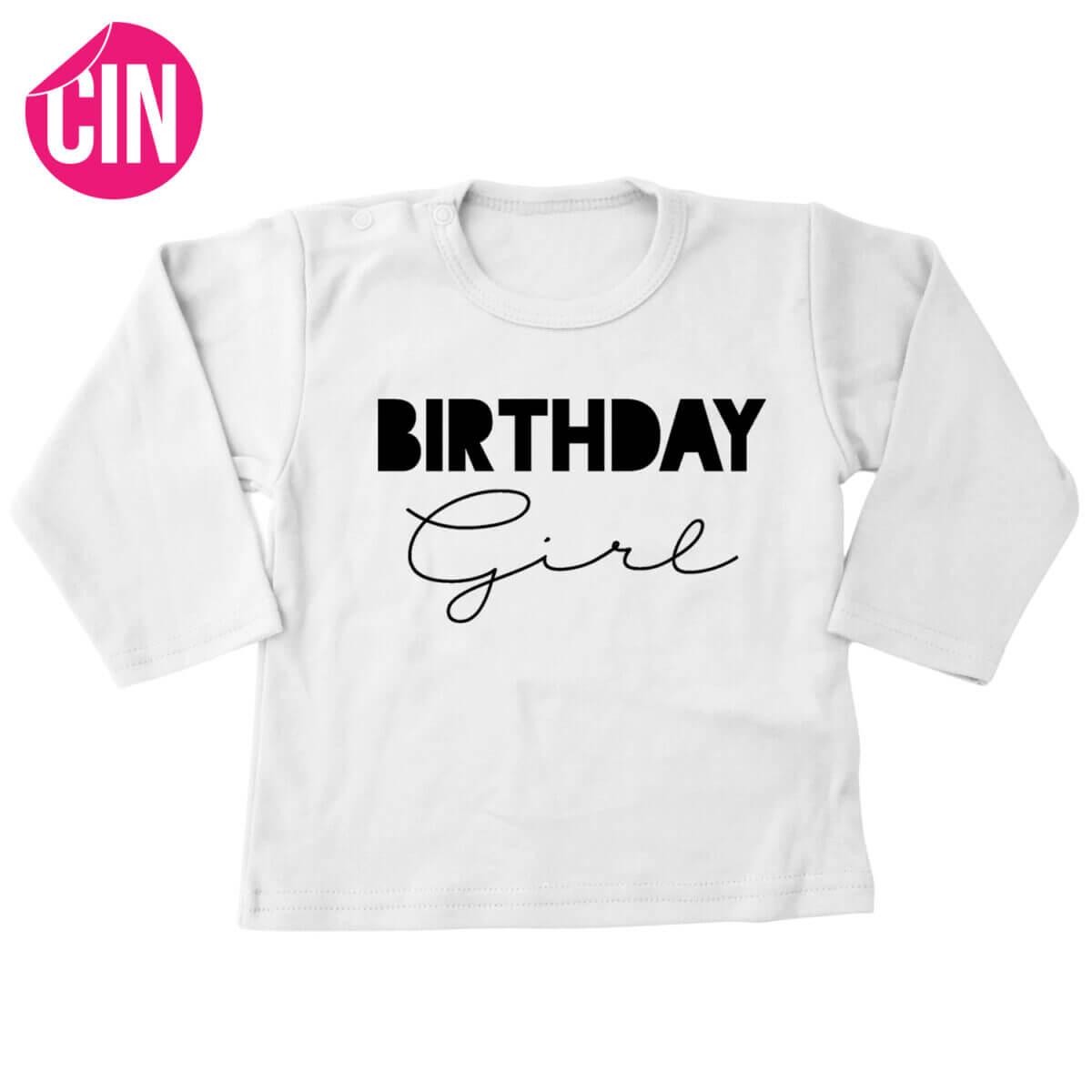 birthday girl t-shirt lange mouw cindysigns