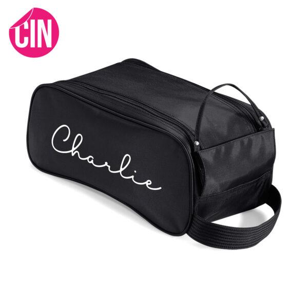 chique shoe bag schoenentas met naam Cindysigns