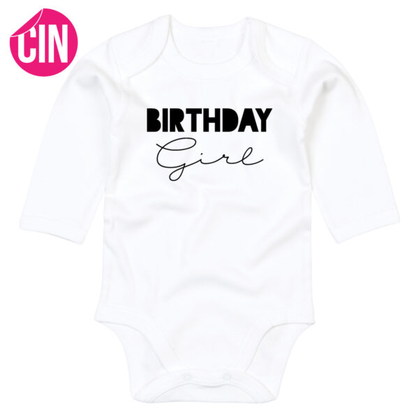 birthday girl romper lange mouw cindysigns