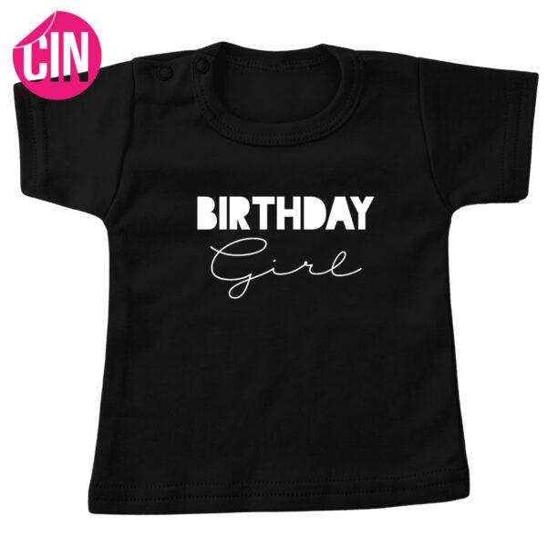 birthday girl t-shirt zwart cindysigns