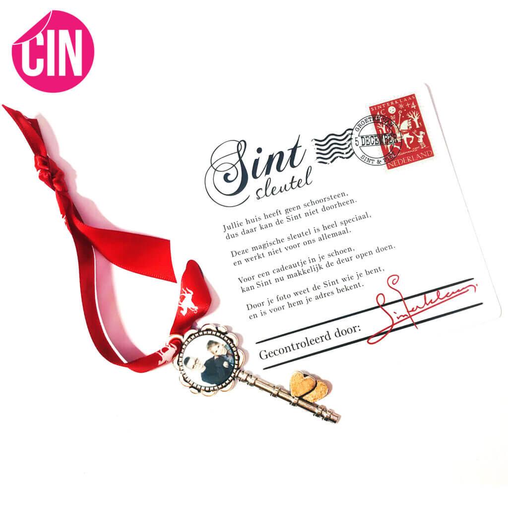 Sinterklaas sleutel met foto cindysigns