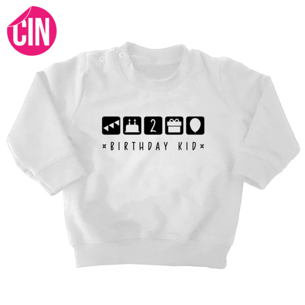 birthday kid sweater wit cindysigns