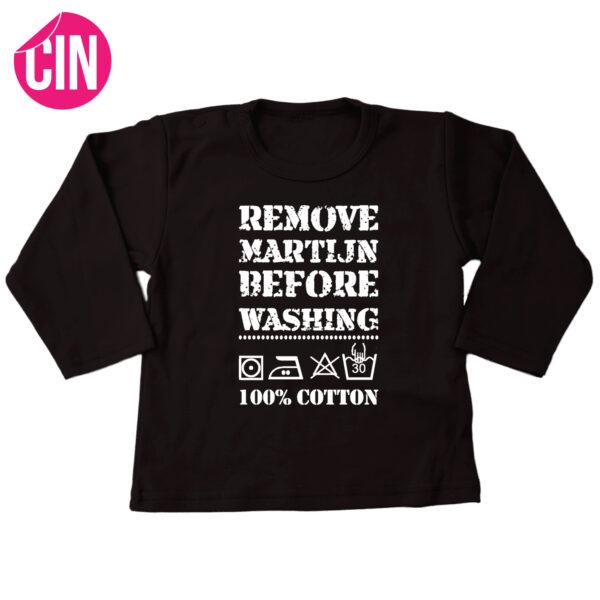 shirt remove baby lange mouw zwart