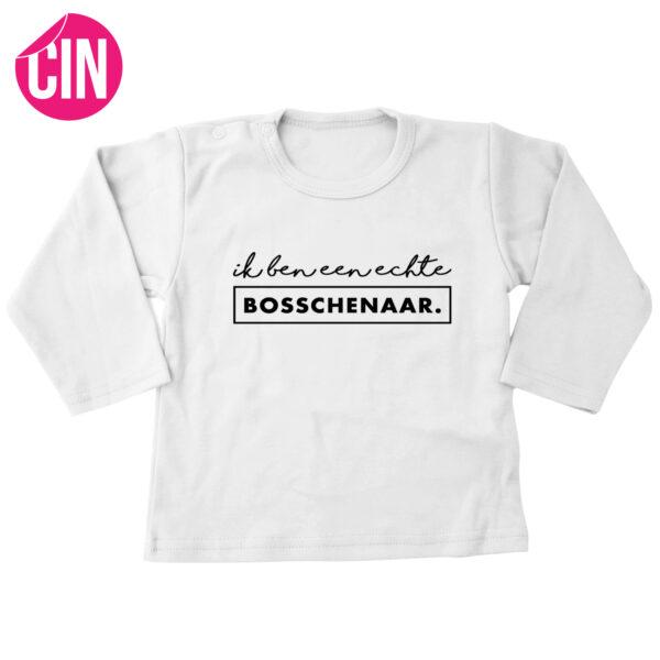 T-shirt bosschenaar lange mouwen wit