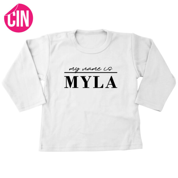 my name is shirt lange mouw wit cindysigns