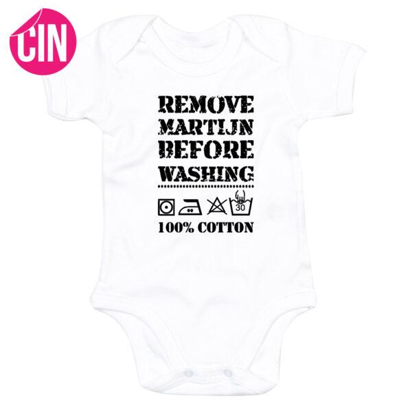 romper remove baby korte mouw wit
