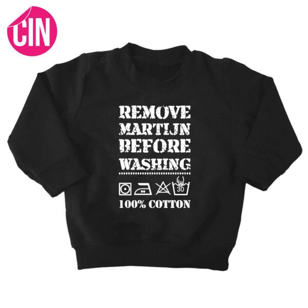 sweater remove baby zwart