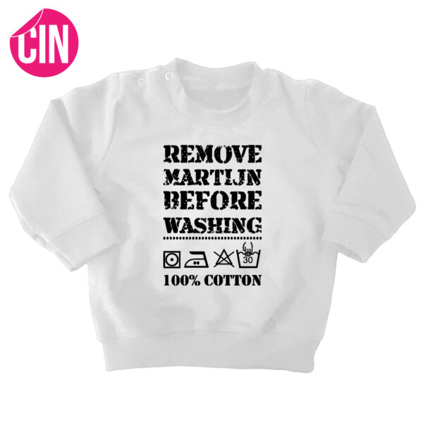 sweater remove baby wit