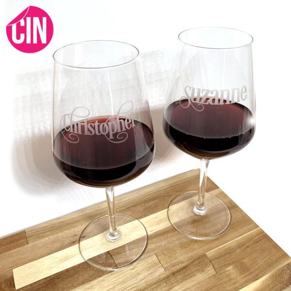 wijnglas met naam cindysigns