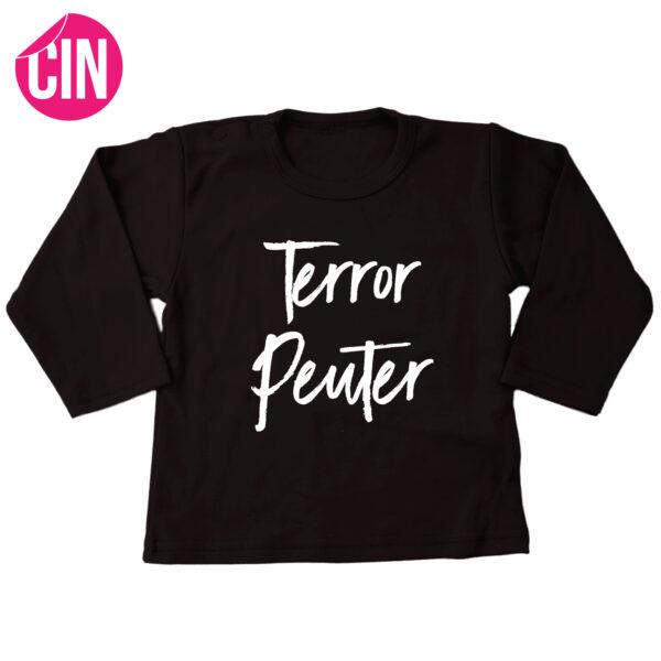 t-shirt terror peuter zwart lang