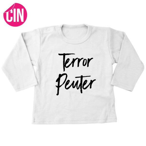 t-shirt terror peuter wit lang