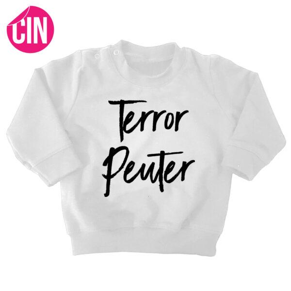 sweater terror peuter wit