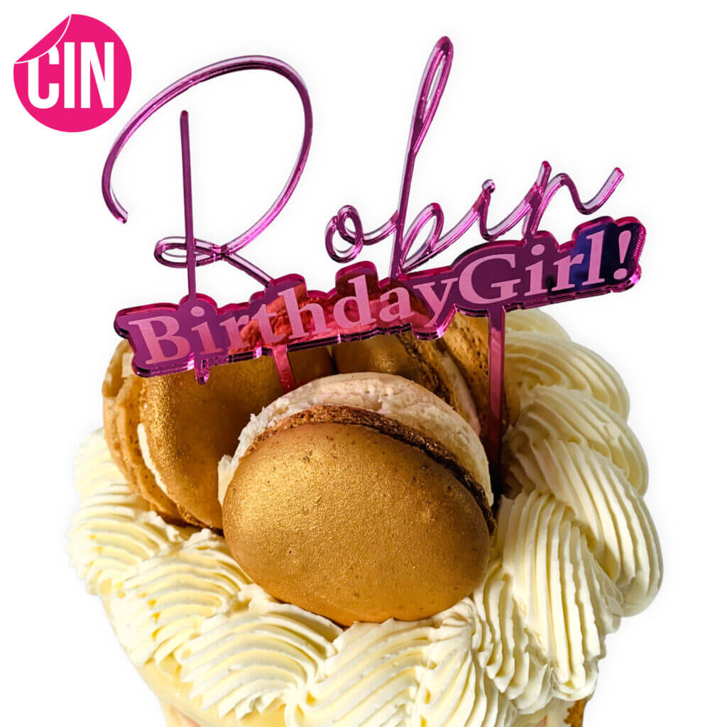 Birthday girl Taarttopper verjaardag Caketopper Cindysigns
