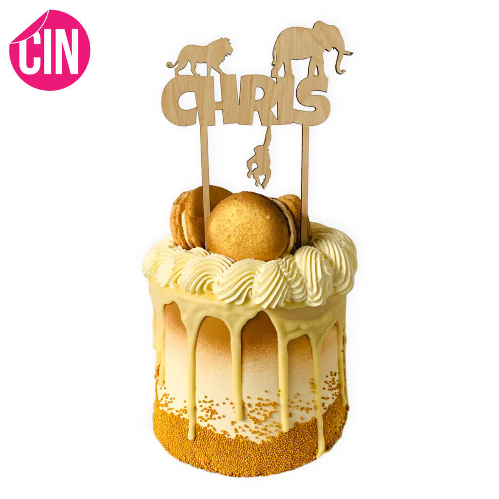 Jungle Taarttopper Caketopper Cindysigns