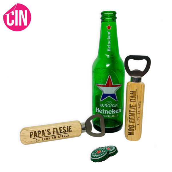 Bieropener flessenopener met naam Cindysigns